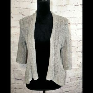 EILEEN FISHER Gray/silver cardigan size pS